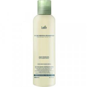 Органический шампунь с ментолом и бесцветной хной La'dor Pure Henna Shampoo 200 мл