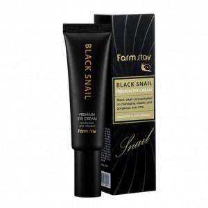 Крем для интенсивного ухода за кожей век с муцином чёрной улитки FarmStay Black Snail Premium Eye Cream