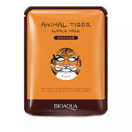 Восстанавливающая тканевая маска для лица с принтом Маска Bioaqua Animal Tiger Supple