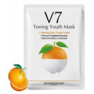 Маска с экстрактом апельсина BIOAQUA V7 Toning Youth Mask