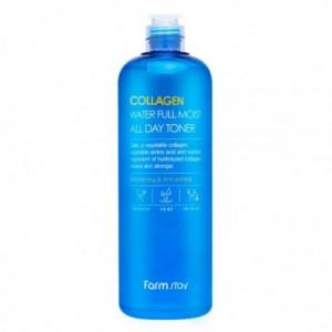 Антивозрастной увлажняющий тонер с коллагеном FarmStay Collagen Water Full Moist All Day Toner 500мл.