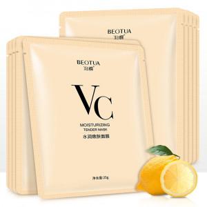 Отбеливающая тканевая маска с витамином С, аллантоином и гиалуроновой кислотой BEOTUA VC MOISTURIZING TENDER MASK
