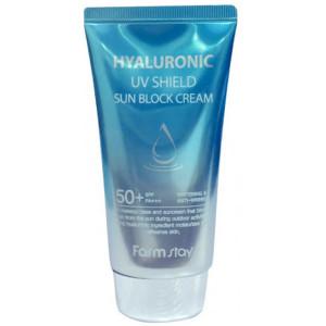 Солнцезащитный крем Farmstay Hyaluronic Uv Shield Sun Block Cream SPF50+ PA+++