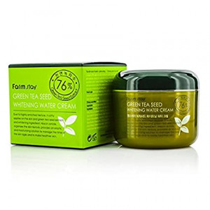 Лёгкий увлажняющий крем для лица с экстрактом семян зеленого чая FarmStay Green Tea Seed Whitening Water Cream