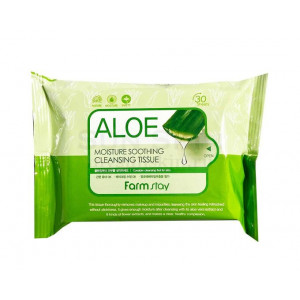 Влажные салфетки с экстрактом алоэAloe Moisture Soothing Cleansing Tissue