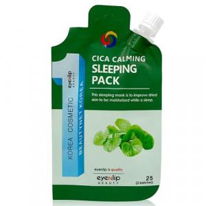 Успокаивающая маска с центеллой в эконом упаковке Eyenlip Spout Pouch Cica Calming Sleeping Pack