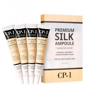 Набор несмываемых сывороток для волос с протеинами шёлка Esthetic House CP-1 Premium Silk Ampoule Set