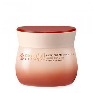 Увлажняющий крем для глубоких слоёв кожи лица с коллагеном Etude House Moistfull Super Collagen Deep Cream