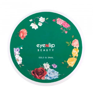 Гидрогелевые патчи для глаз с экстрактом золота и муцина улитки Eyenlip Gold & Snail Hydrogel Eye Patch