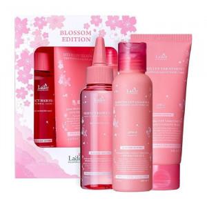 Набор для восстановления волос в стильном  оформлении La'dor Blossom Edition