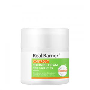 Матирующий крем для контроля работы сальных желез Real Barrier Control-T Sebomide Cream
