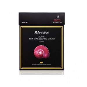 Обновляющая ночная маска с муцином улитки JMsolution Active Pink Snail Sleeping Cream Prime