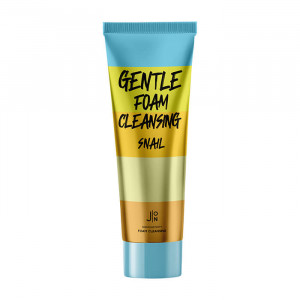 Мягкая кремовая пенка для очищения кожи лица с муцином улитки и экстрактом алоэ J:ON Gentle Foam Cleansing Snail
