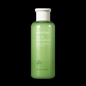 Интенсивно увлажняющий тонер для лица с экстрактом зелёного чая Innisfree Green Tea Balancing skin EX