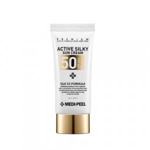 Солнцезащитный крем с комплексом пептидов MEDI-PEEL Active Silky Sun Cream SPF50+PA+++ 50 ml