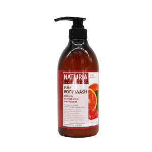 Увлажняющий гель для душа с фруктовым ароматом апельсина, клюквы и зеленого яблока  Evas Naturia Pure Body Wash Cranberry & Orange (750 мл)