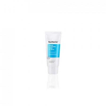 Кремовая очищающая пенка для лица миниатюра Real Barrier Cream Cleansing Foam 15g